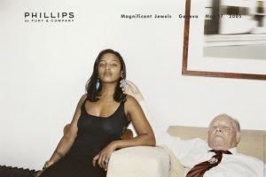 Juergen Teller, Ed´s Godmother, Stephanie Simon Hale and Artur Teller, Werbung für Phillips de Pury & Co Magnificent Jewels, London, 2005,