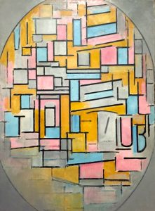 Composition in Oval with Colour 1914