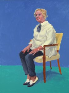 "David Hockney ""Celia Birtwell, 31 August - 4 September"" 2015 Acrylic on canvas 48 x 36"" © David Hockney Photo Credit: Richard Schmidt"